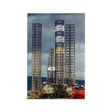 Jackup oil drilling rig, North Se Rectangle Magnet