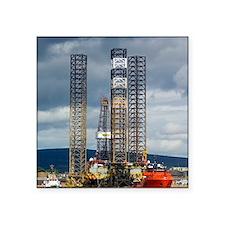 """Jackup oil drilling rig, No Square Sticker 3"""" x 3"""""""
