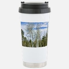 White Aspen Forest Stainless Steel Travel Mug