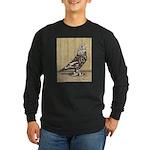Brown Mottle West Long Sleeve Dark T-Shirt