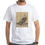 Brown Mottle West White T-Shirt