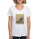 Brown Mottle West Women's V-Neck T-Shirt