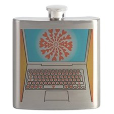 Internet dating, conceptual image Flask