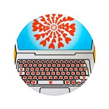 """Internet dating, conceptual image 3.5"""" Button"""