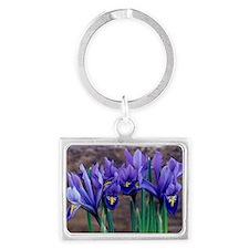 Iris 'Joyce' flowers Landscape Keychain