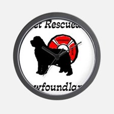 Newfie Get Rescued Wall Clock