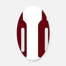 Pause Wine Flip Flop Logo Oval Car Magnet