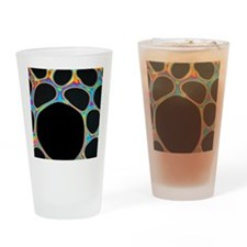 Interference pattern Drinking Glass
