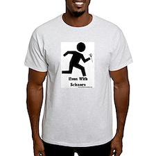 Runs With Scissors Ash Grey T-Shirt