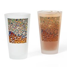 Interference pattern Drinking Glass