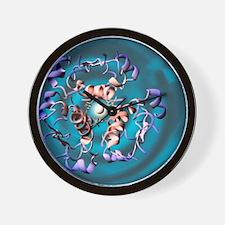 Insulin molecule, artwork Wall Clock