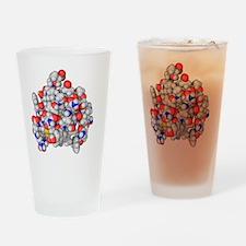 Insulin molecule Drinking Glass