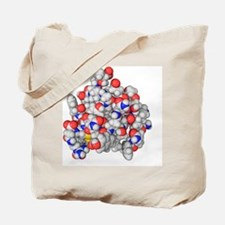 Insulin molecule Tote Bag