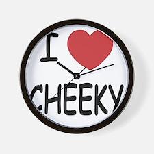 I heart CHEEKY Wall Clock