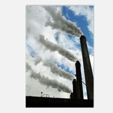 Industrial air pollution Postcards (Package of 8)