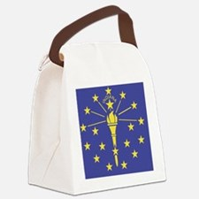Indiana State Flag Canvas Lunch Bag