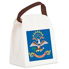 North Dakota State Flag Canvas Lunch Bag