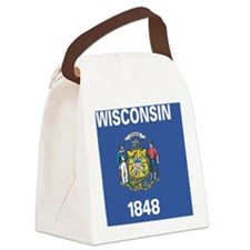 Wisconsin State Flag Canvas Lunch Bag