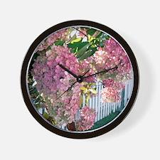 Hydrangea garden flowers Wall Clock