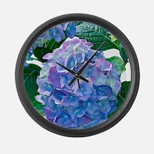 Hydrangea (Hydrangea macrophylla) Large Wall Clock