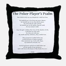 Poker Psalm Throw Pillow