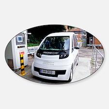 Hydrogen fuel cell car Sticker (Oval)