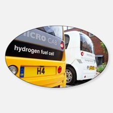 Hydrogen fuel cell cars Sticker (Oval)