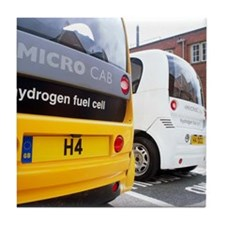 Hydrogen fuel cell cars Tile Coaster