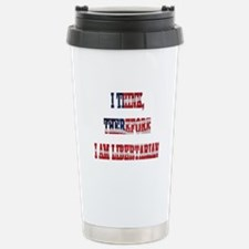 Think Libertarian Stainless Steel Travel Mug