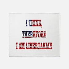 Think Libertarian Throw Blanket