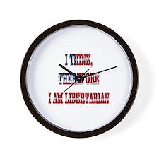 Think Libertarian Wall Clock