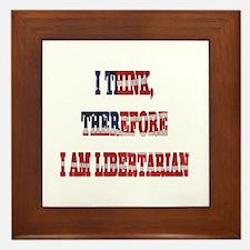Think Libertarian Framed Tile