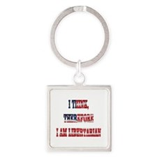 Think Libertarian Square Keychain