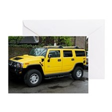 Hummer 4x4 vehicle Greeting Card