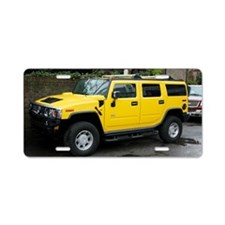 Hummer 4x4 vehicle Aluminum License Plate