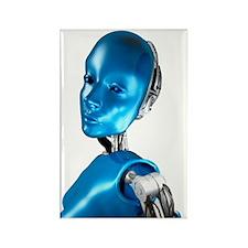 Humanoid robot, artwork Rectangle Magnet