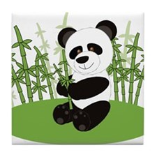 Panda in Bamboo-3 Tile Coaster