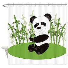 Panda in Bamboo-3 Shower Curtain