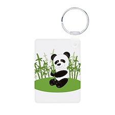 Panda in Bamboo-3 Keychains