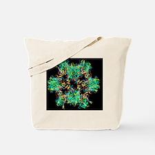 HPV-like particle, ribbon model Tote Bag