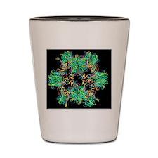 HPV-like particle, ribbon model Shot Glass