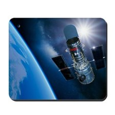 Hubble Space Telescope in orbit, artwork Mousepad