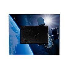 Hubble Space Telescope in orbit, art Picture Frame