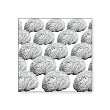 "Human brains, artwork Square Sticker 3"" x 3"""
