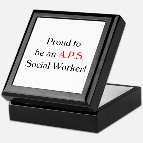 Proud APS SW Keepsake Box