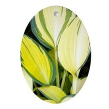 Hosta 'Remember Me' Oval Ornament