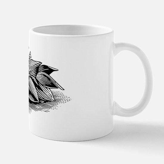 Hosta, lino print Mug