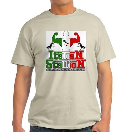 Classic Italian Stallion Ash Grey T-Shirt