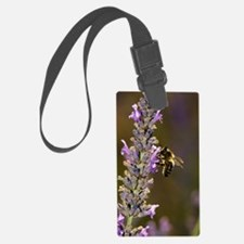 Honey bee pollinating flowers Luggage Tag
