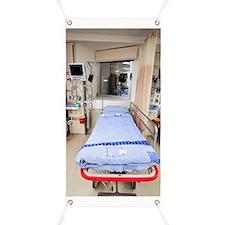 Hospital intensive care unit bed Banner